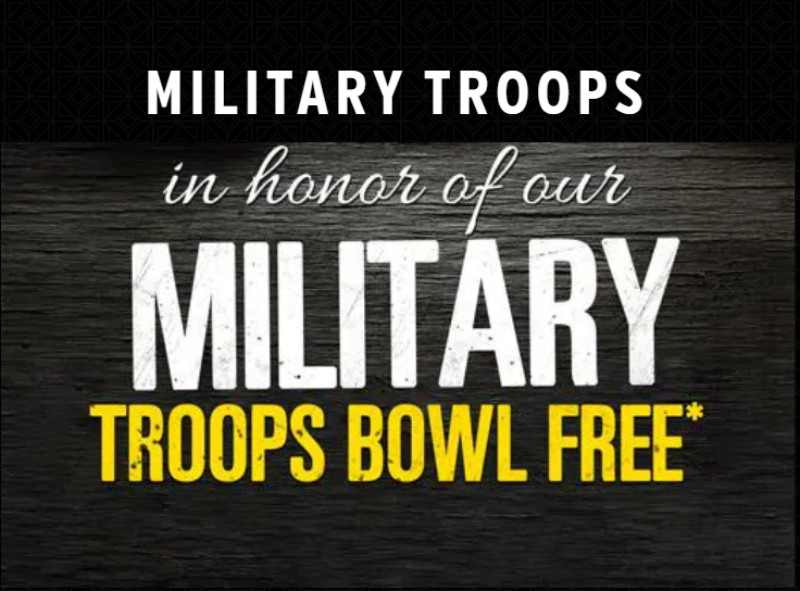 Military Troops Bowl Free!