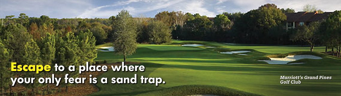 Escape to a place where your only fear is a sand trap.