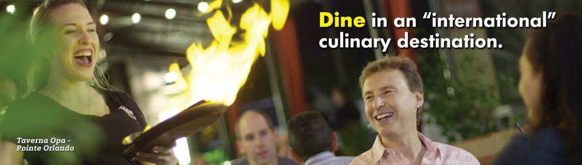 "Dine in an ""international"" culinary destination."