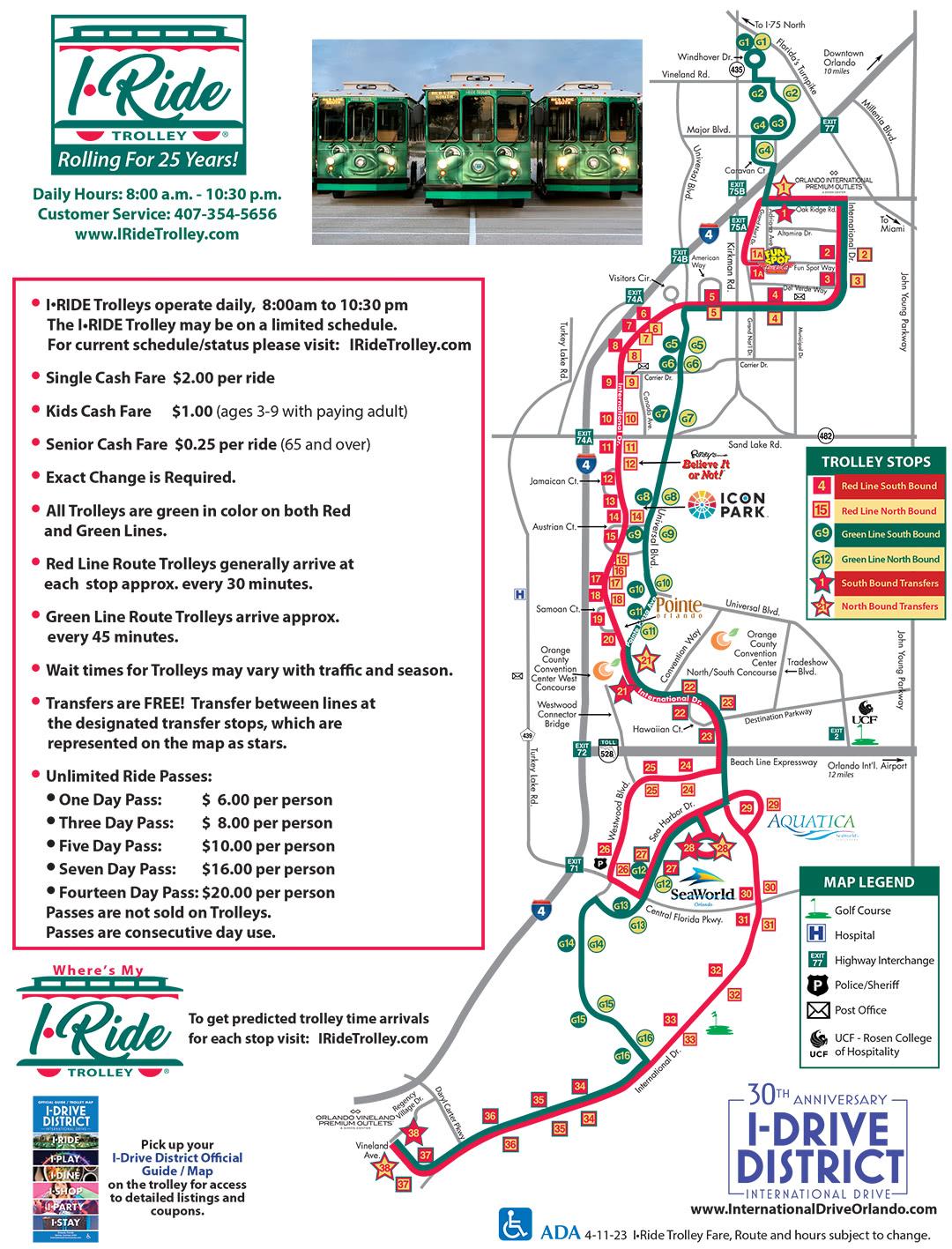 Orlando Maps Maps of IDrive International Drive Resort Area – Orlando Tourist Attractions Map