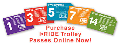 Purchase I-Ride Trolley Passes Online Now